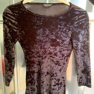 Velour Midi Black Dress SZ US 2